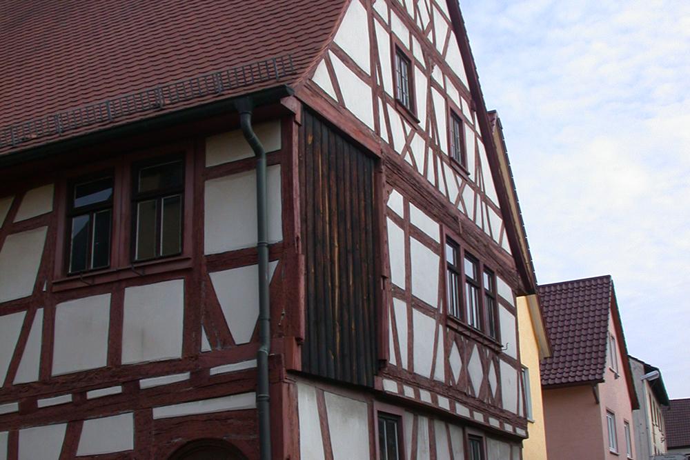 Das Gebäude war lange Zeit ohne Erker.