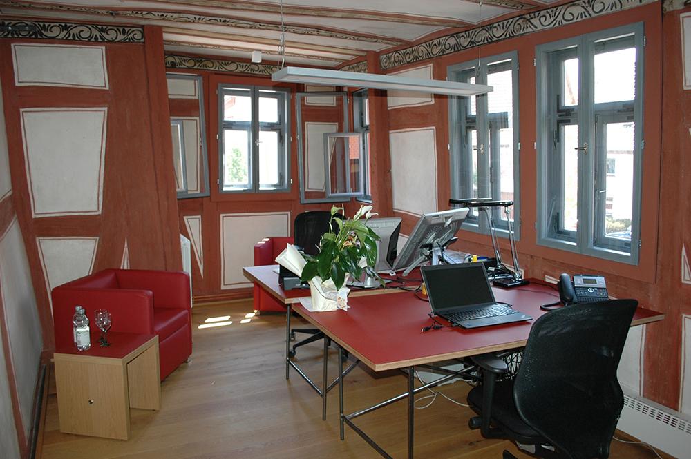 Die Geschäftsstelle der Burglandschaft ist im Obergeschoss untergebracht.