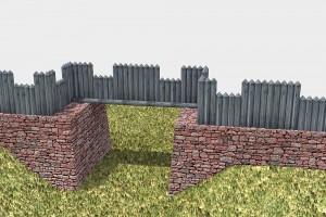Die virtuelle Rekonstruktion des Tors. © TBM - Timo Breidenbach Medienservice