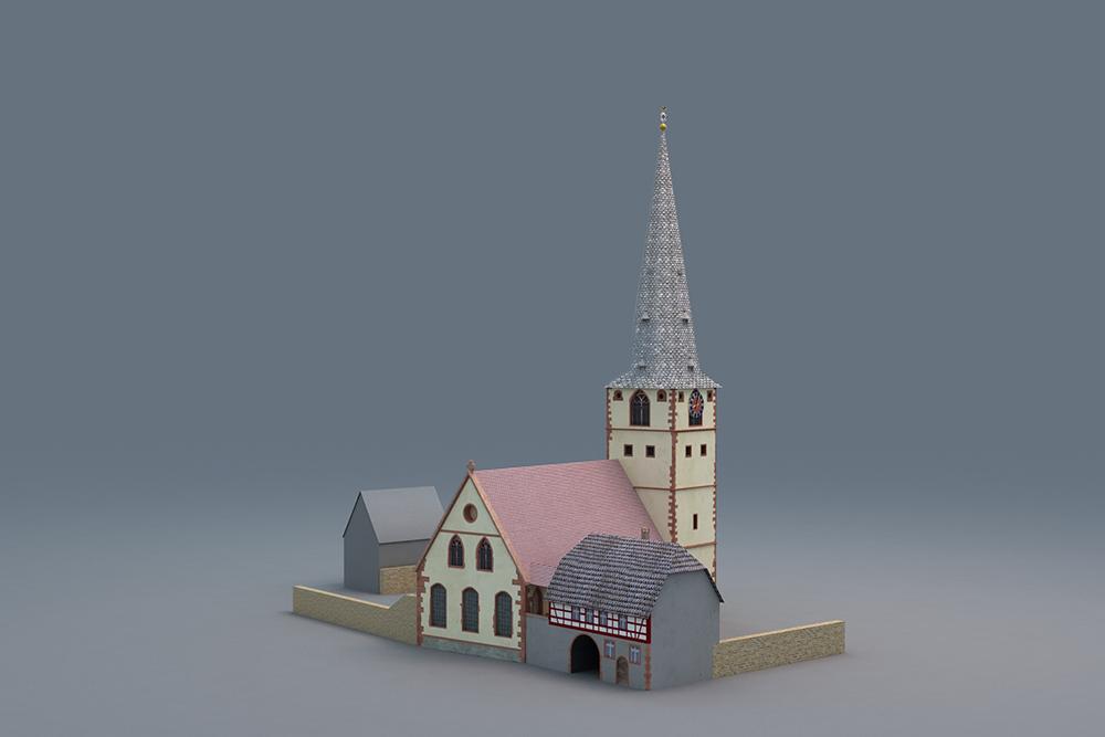 St. Margaretha von der Freudenberger Straße im Südwesten aus - <em/>© TBM - Timo Breidenbach Medienservice