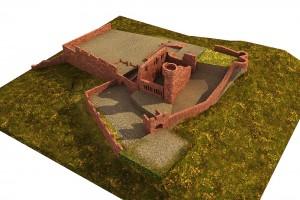 Die Reste des Palas mit Turm - Bearbeitung: Christian Westarp
