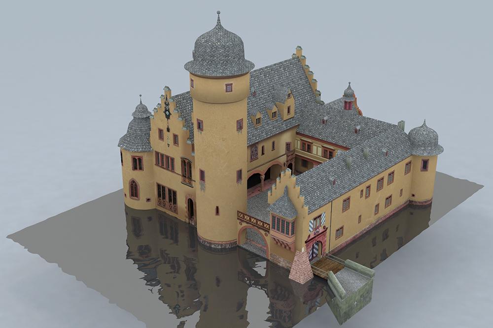 Blick von Westen in den Schlosshof - © TBM - Timo Breidenbach Medienservice