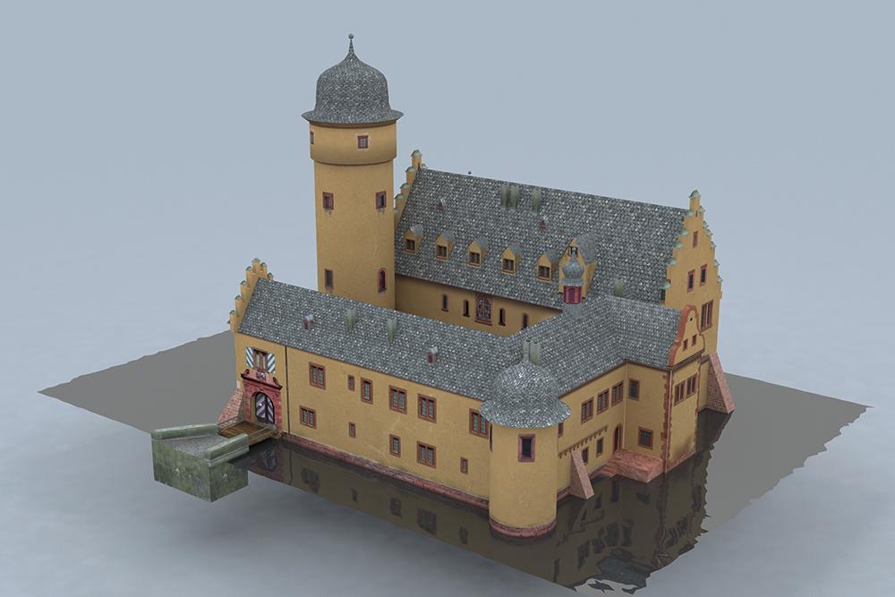 Ansicht der Zugangsseite des Schlosses von Süden - © TBM - Timo Breidenbach Medienservice