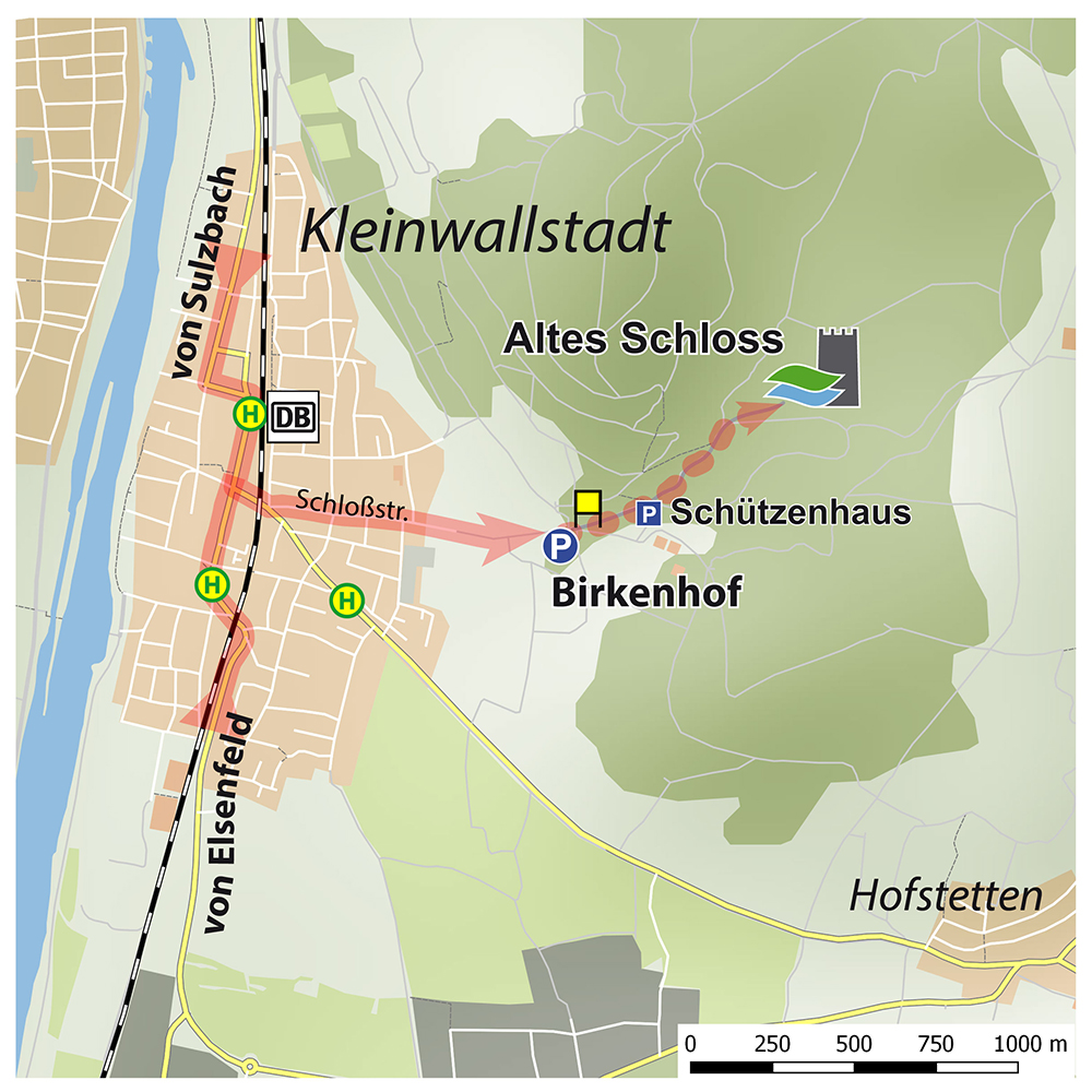 Anfahrtsskizze Altes Schloss – Karte: Jürgen Jung, ASP