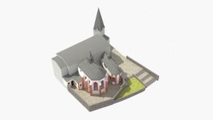 Die Wallfahrtskirche aus der Vogelperspektive von Südosten - © TBM - Timo Breidenbach Medienservice