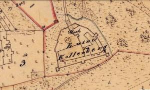 Die Ruine der Kollenburg in der bayerischen Uraufnahme (1. H. 19. Jhd.) - Quelle: Bayerische Vermessungsverwaltung