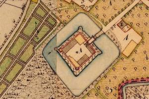 Das Wasserschloss Sommerau in der bayerischen Uraufnahme (1. H. 19. Jhd.) - Quelle: Bayerische Vermessungsverwaltung