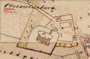 Schloss Oberaulenbach in der bayerischen Uraufnahme (1. H. 19. Jhd.) - Quelle: Bayerische Vermessungsverwaltung