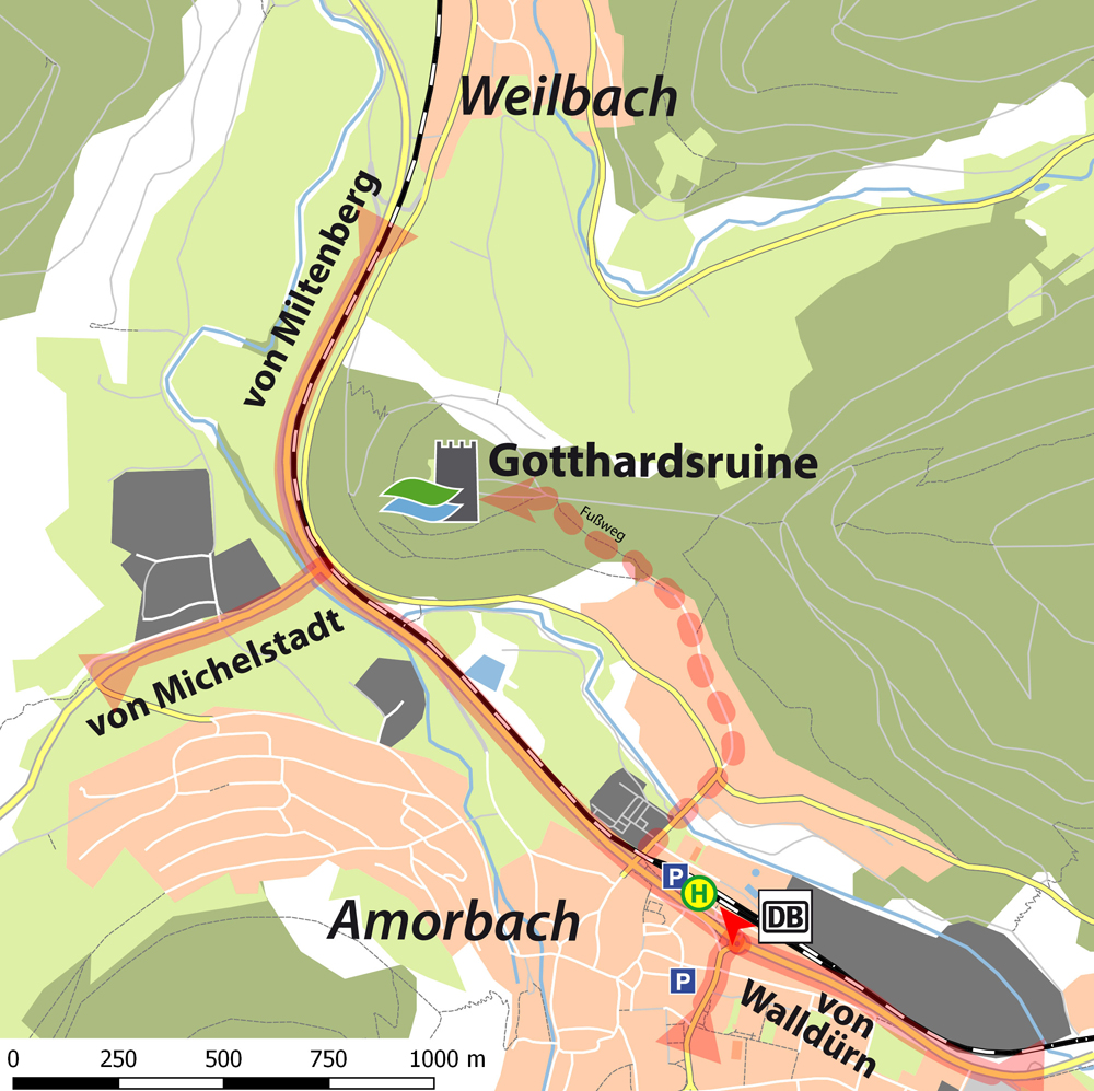 Anfahrtsskizze_AmorbachWeilbach_Gotthardsruine