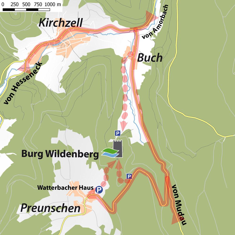 Anfahrtsskizzen_Kirchzell_Wildenberg