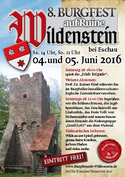 Plakat Burgfest Wildenstein