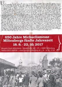 Plakat Michaelismesse