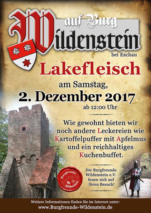 Plakat_Lakefleischessen_Wildenstein2017