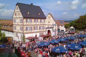 Buntes Treiben am Marktplatzfest 2014. Foto: Michael Abb.