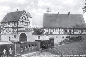 Das Nöthigsgut auf einer Postkarte Ende der 1930er. Bild: Geschichtsverein Bachgau.