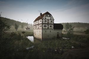 Dabei handelte es sich um eine spätmittelalterliche Niederungsburg. Bearbeitung: Archaeologica GmbH