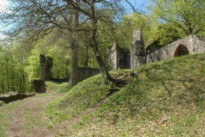 Ansicht der Burg Rodenstein beim Fränkisch-Crumbach