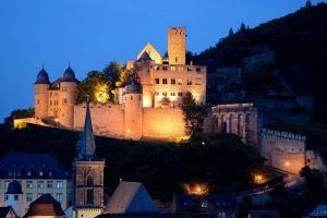 Die Burg in Wertheim bei Nacht