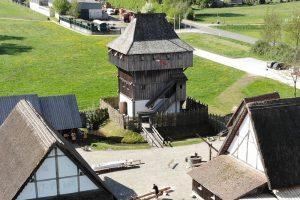 Die Bachritterburg in Kanzach, Lkr. Biberach. Foto: Christian Büdel